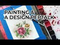 Watercolor Painting In a Hotel Room + Design Peptalk