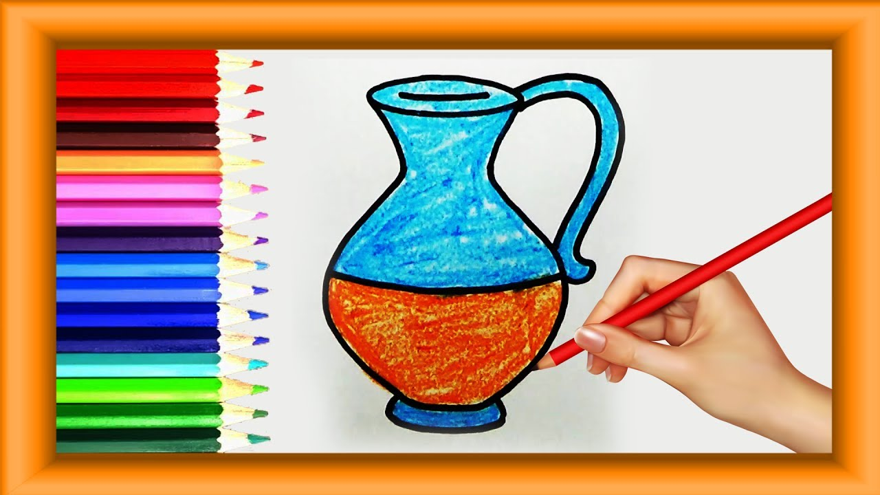 Step by Step how to Draw JUG for kids