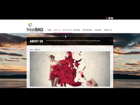 ThinkBag Responsive website