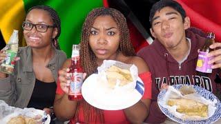 JAMAICANS TRY FOOD FROM TRINIDAD & TOBAGO | Taste Test | *My friend started choking*