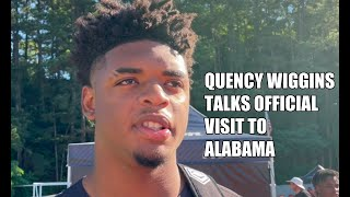 Quency Wiggins Excited For His Return To Alabama | SEC News | CFB News