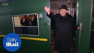 Kim Jong Un waved off in Pyongyang ahead of China summit