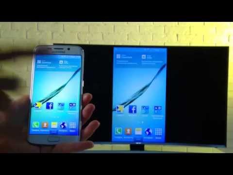 Смартфон на экране SUHD TV - Screen Mirroring 📺📱