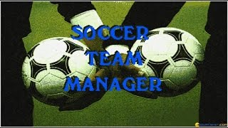 Soccer Team Manager gameplay (PC Game, 1994)