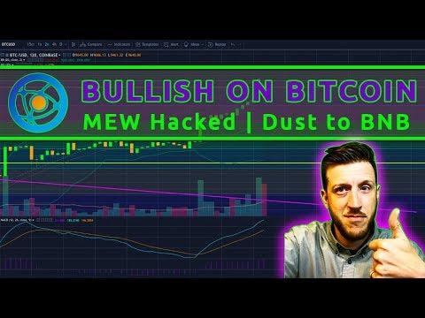 Bullish on Bitcoin (BTC) | MEW Hacked | Dust to BNB