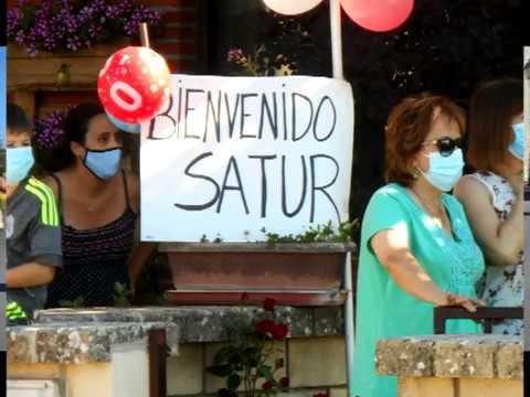 Emotico recibimiento a Satur en Cabrejas tras 109 dias en el Hospital