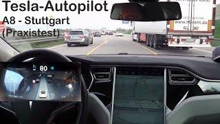 Tesla Model S - Autopilot in Stuttgart - (Praxistest)