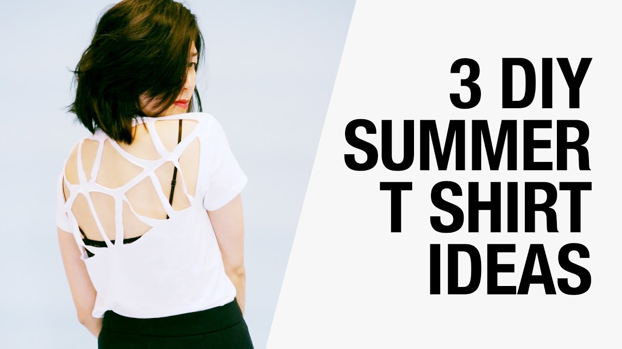 3 Easy DIY Summer T Shirt Ideas - Cutouts, Racerback, Butterfly ...