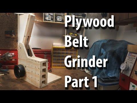 """plywood 2""""*72"""" belt grinder part 1: The Frame"""