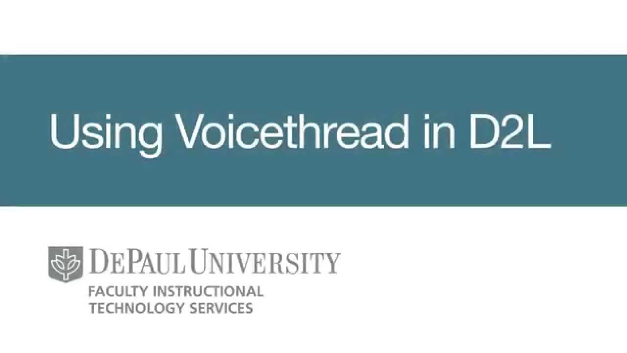 Using Voicethread In D2l Youtube