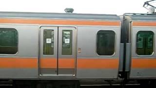Repeat youtube video 中央総武緩行線E231系 VS 中央快速線E233系 並走
