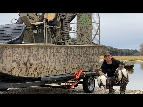 Duck Hunting Out Of The AIRBOAT!!! My Trailer Is RUINED!!!