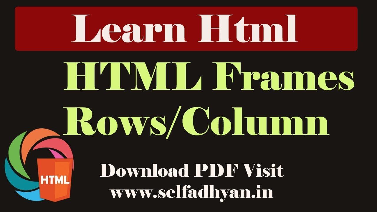 Day -10 HTML Advance Tutorial (Basic to Advance): Frameset ...