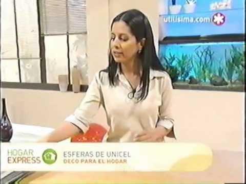 Liliana Cota Hogar Express Esferas De Unicel Youtube