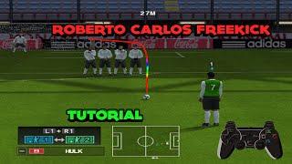 How To Shoot Like Roberto Carlos pes ps2/psp/wii / Tutorial English & Español