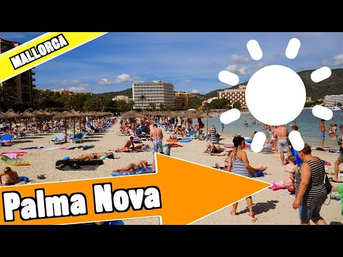 Palma Nova Majorca Spain: Tour of beach and resort