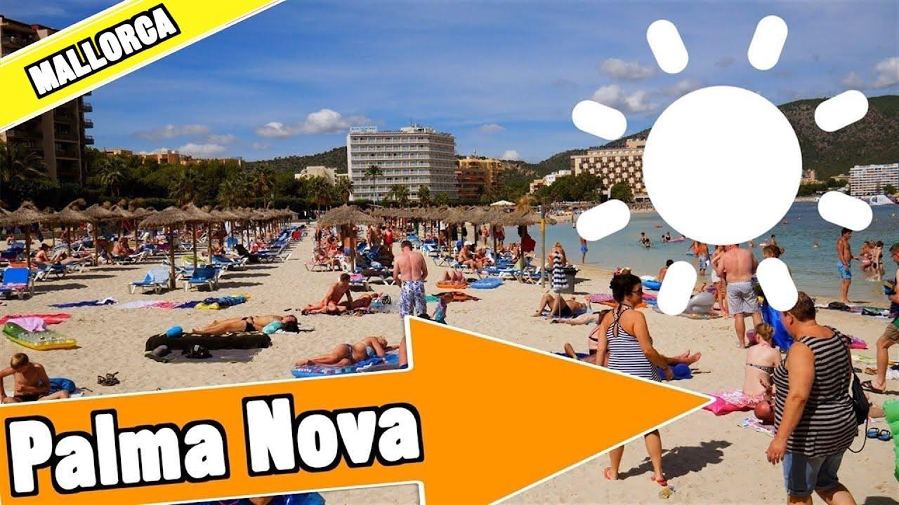 palma nova majorca spain tour of beach and resort