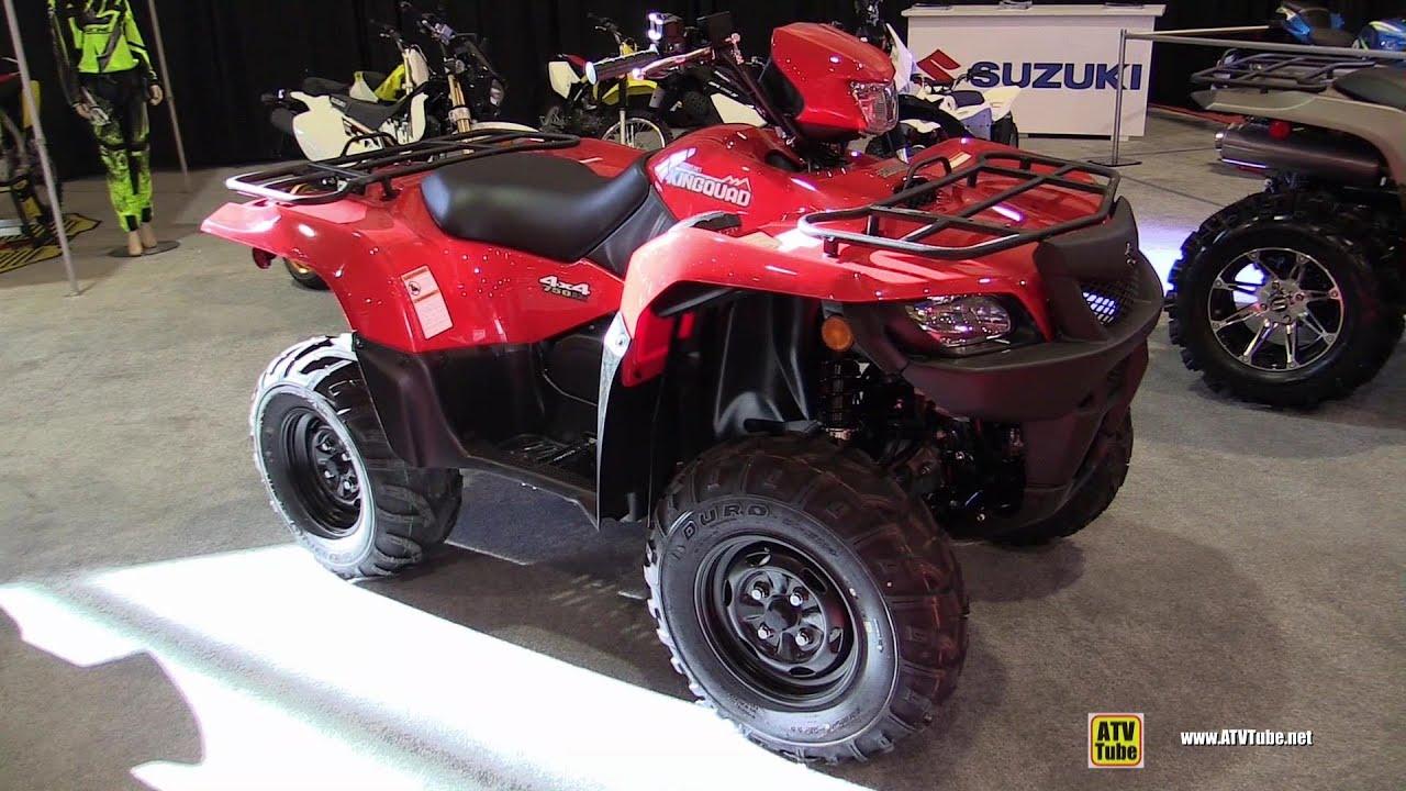 2015 suzuki kingquad 750 axi recreational atv walkaround 2014 st hyacinthe atv show youtube