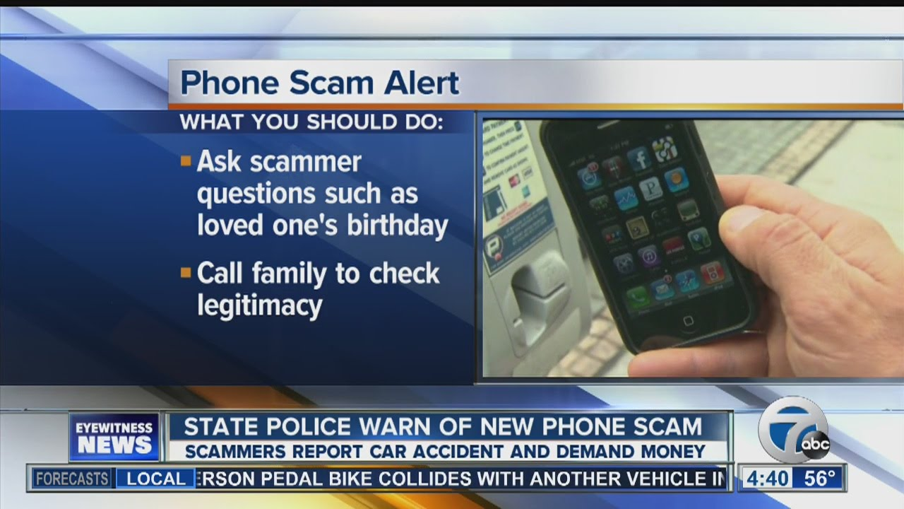 State police warn of car accident phone scam