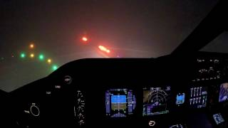 LAX Foggy Departure 747-8