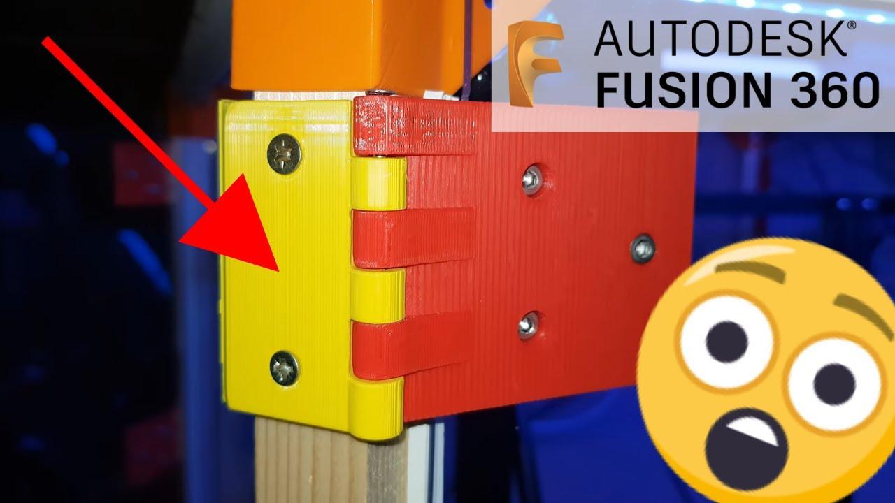 Comment faire des charnières imprimées en 3D avec Fusion 360 ? 🤔