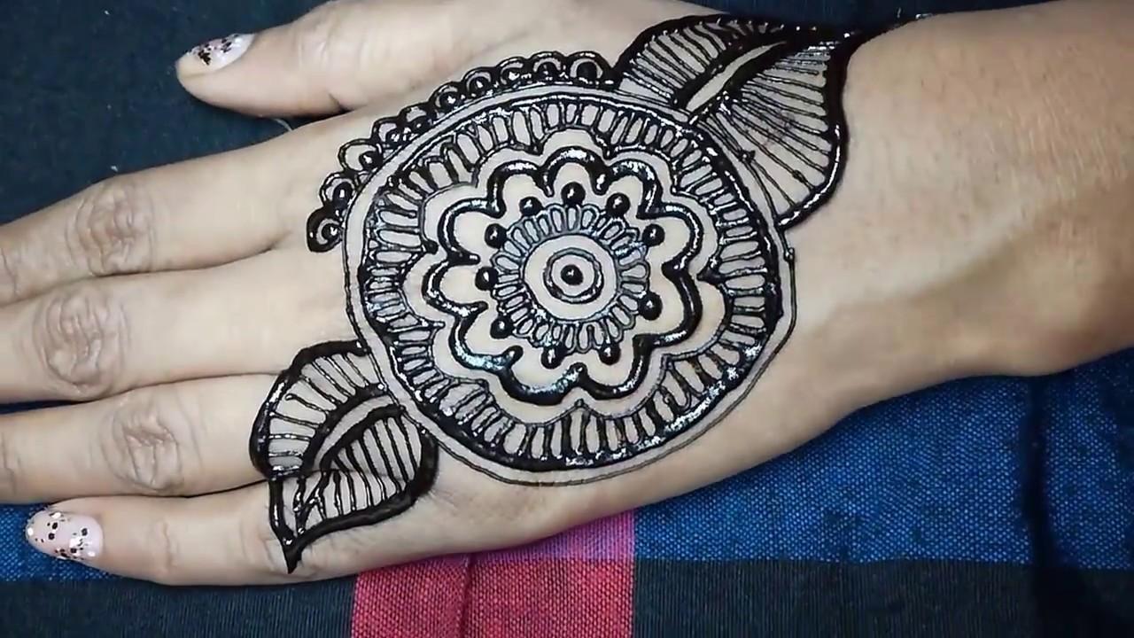 Mehndi Henna Design With Peacock Motif : Excellent mehndi design youtube domseksa