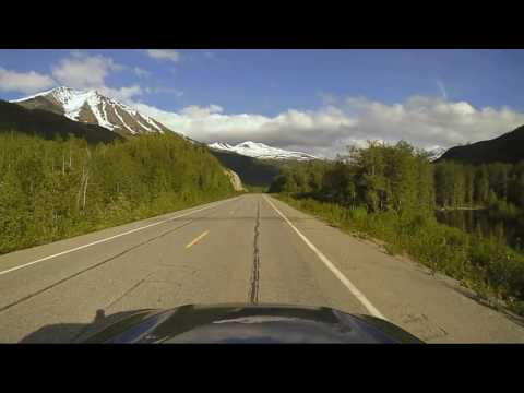 The Drive Over Thompson Pass, To Valdez Timelapse Dashcam