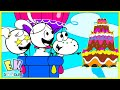 Bake a Cake with Combo Panda and Candyland Fun Pretend Play with Gus!