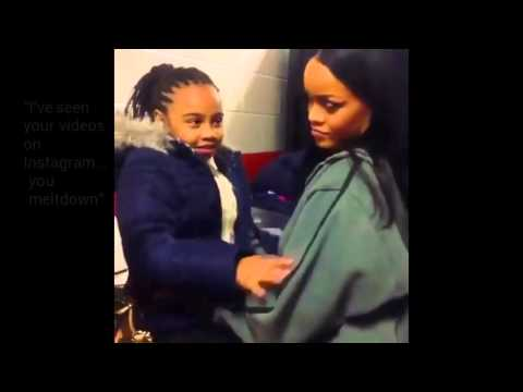RIHANNA Shows Love Backstage To Young Girl Fan During ANTI World Tour (VIDEO)