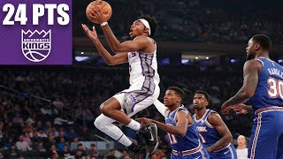 De'Aaron Fox (24 points) puts on a show at MSG vs. Knicks | 2019-20 NBA Highlights