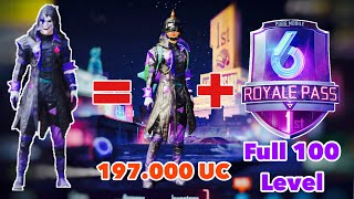 Pubg Mobile: Mở Fขll 100 Level Royal Pass Season 6 | Quay The Fool Set cực đẹp | 197.000 UC