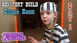 Turning Our House Into a Giant Box Fort - DAY 1 How to Build an Escape Room With Working Laser!!
