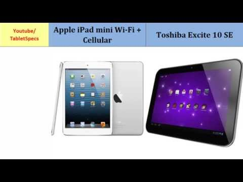 Apple iPad mini Cellular VS Toshiba AT300SE, full specs comparison