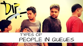 Types Of  People In Lines | Indians In A Queue | Damn It Parag