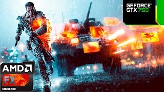 Test Range - Battlefield 4 - GTX 750 Medium Settings - 60fps