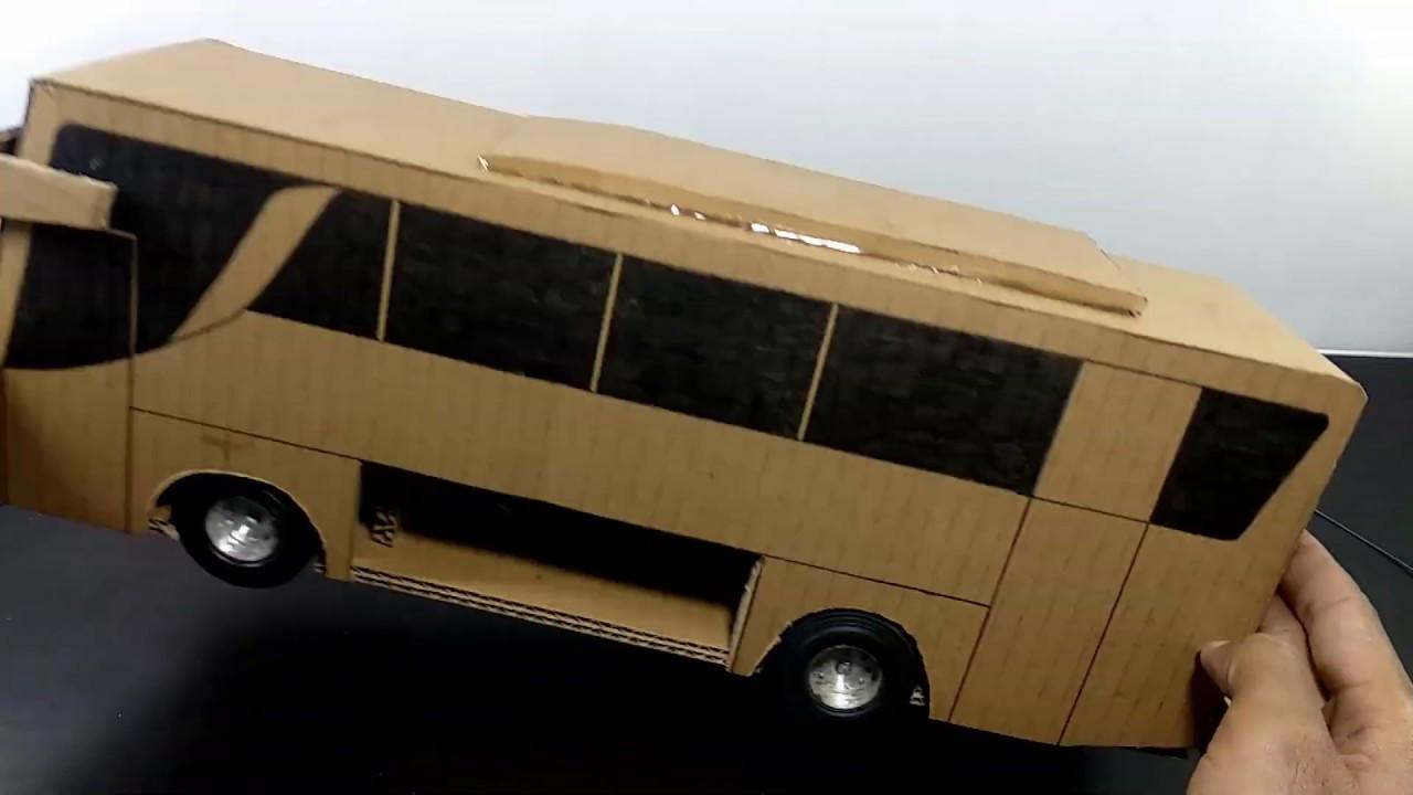 Cara membuat miniatur bus dari kardus | Mobil mainan dari ...