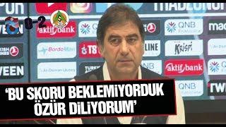Trabzonspor 0-2 Alanyaspor (Ünal Karaman basın toplantısı)