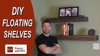 This DIY Wood Floating Shelf project is a great one for anyone looking to get into woodworking and for the more advanced, alike. It