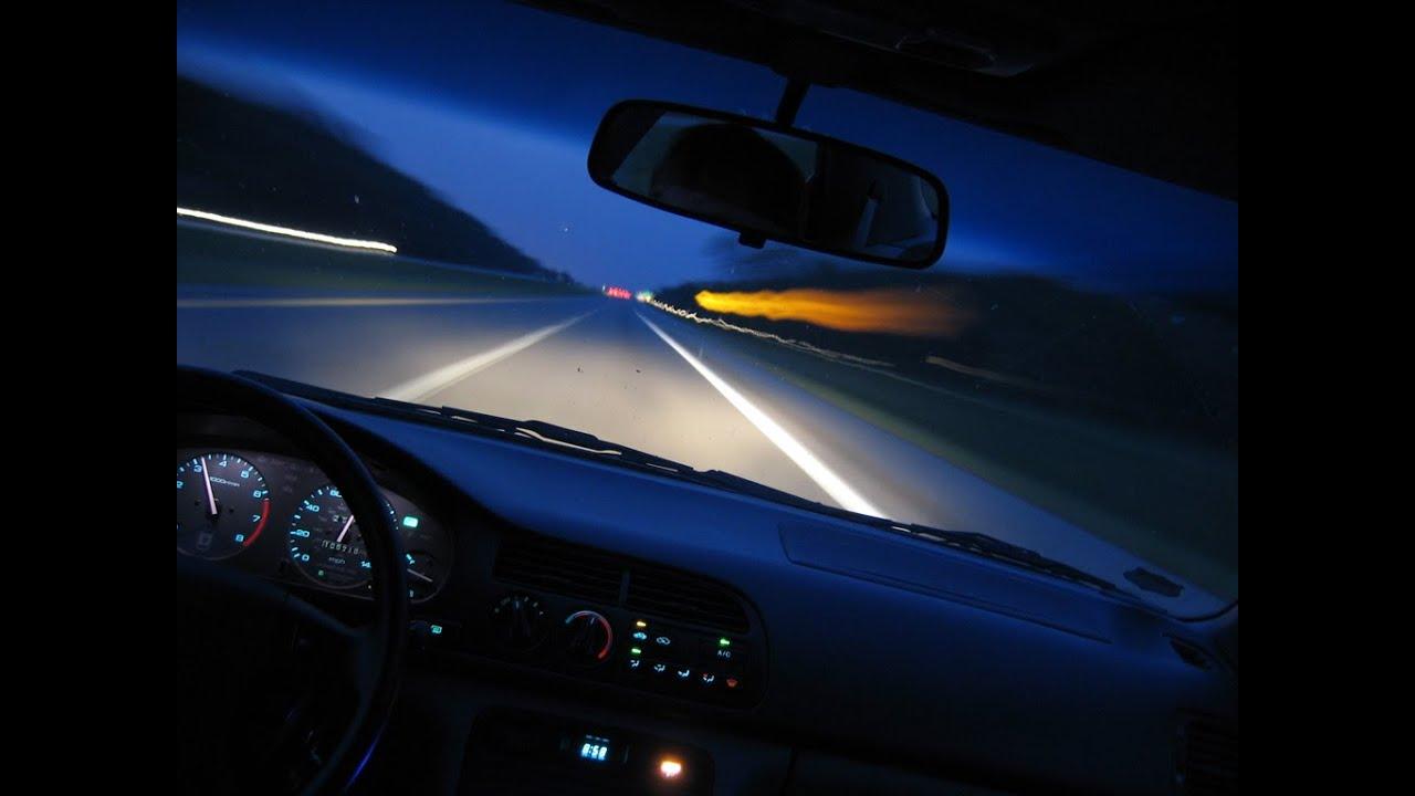Особенности поездки на машине ночью