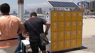 Innovador emprendimiento de lockers solares