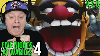 TV DEATH HUGS FROM WARIO   FIVE NIGHTS AT WARIO'S 4 [ Version 2.0 ] NIGHTS 1 2 3 + ALL NEW CONTENT