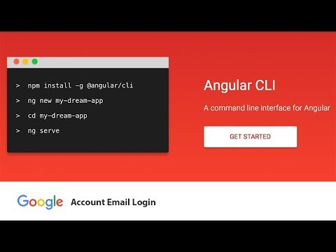 Angular CLI Google Account Email Login with Routing