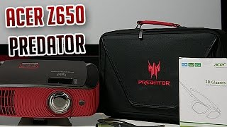 Acer Z650 Predator Beamer Unboxing + Review [Deutsch] 4K