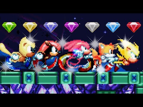 Sonic Mania PLUS - All Characters & Super Forms!