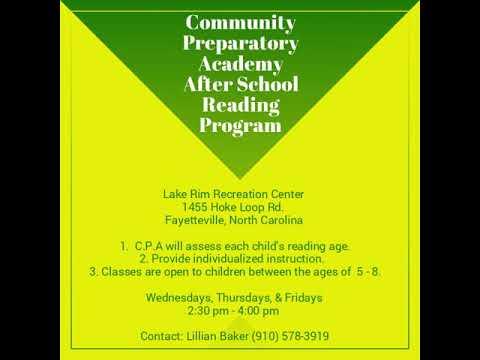 Community Preparatory Academy After School Reading Program