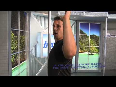 Wide Lat Pull Down with Exercise Bands