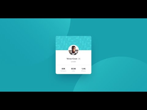 HTML & CSS Tutorial   Frontend Mentor - Profile Card Component