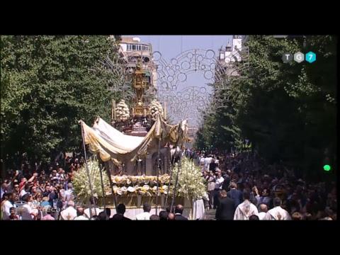 Emisión en directo de TG7  PROCESIÓN DEL CORPUS 2017