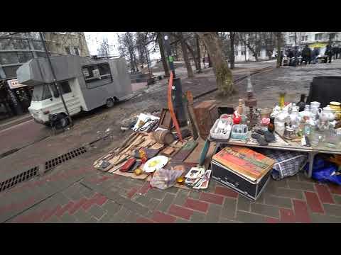 Поездка в Нижний Новгород, часть 5. Прогулка по пешеходной улице НН. Барахолка НН. 4К видео.