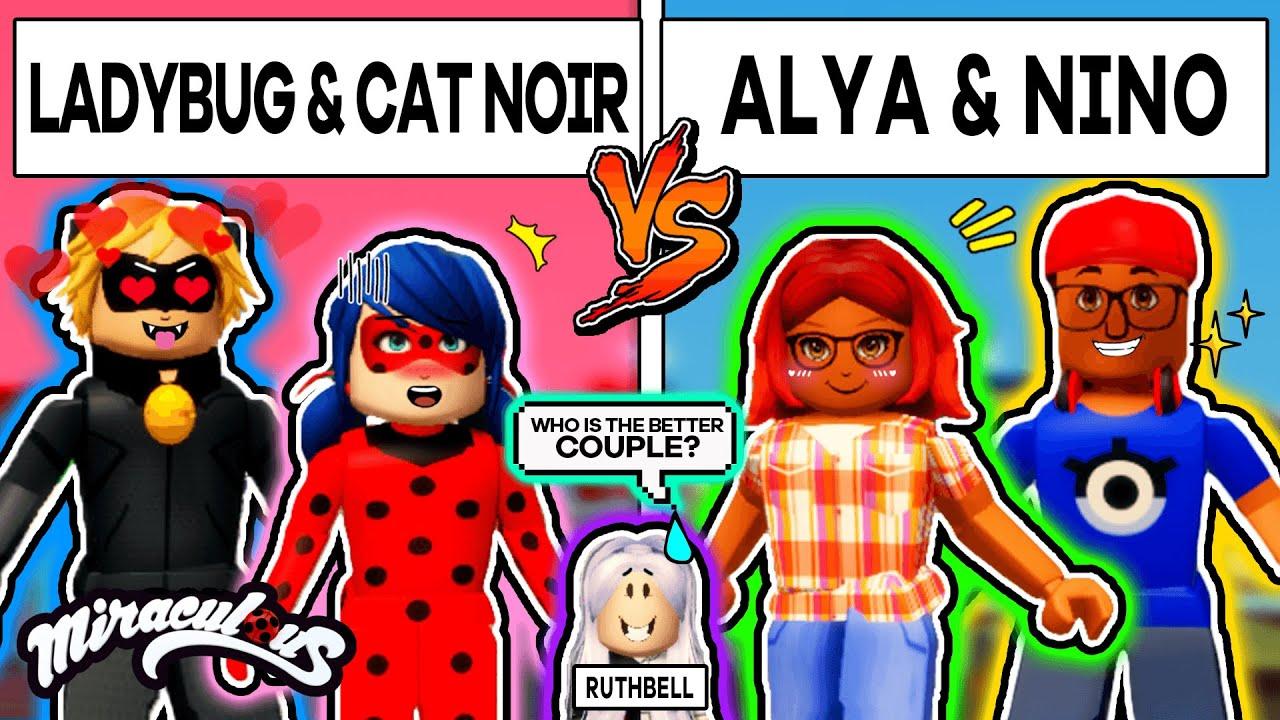 MIRACULOUS LADYBUG & CAT NOIR VS ALYA & NINO Family (🏠Roblox Miraculous Quests RP)